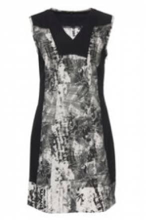 Gina Laura Blusenkleid mit dekorativem Druck, leicht taillierte Form