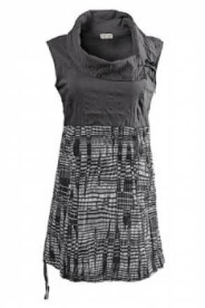 Gina Laura Ärmelloses Blusenkleid in leichter Qualität mit modernem Grafikmuster