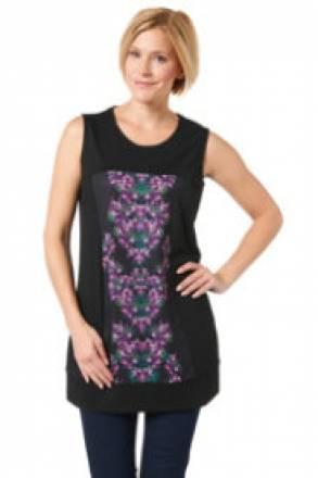 Gina Laura Sweatkleid mit eingerahmten Blütendruck