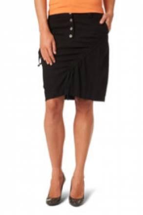 Gina Laura Rock aus Leinenmischung, gerade Silhouette mit 2 Taschen