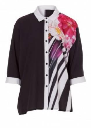 Chiffon-Bluse mit Blumenmuster