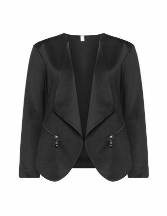 Scuba-Blazer mit Zippern