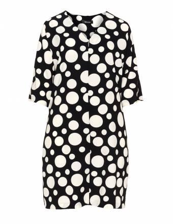 Kleid mit Bicolour-Punktemuster