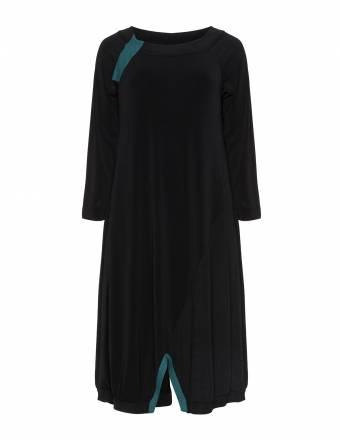 Bicolour-Kleid mit Schlitzen
