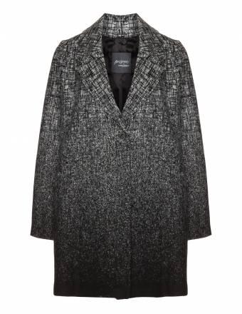 Kurzer Wollmix-Mantel mit Ombré-Effekt
