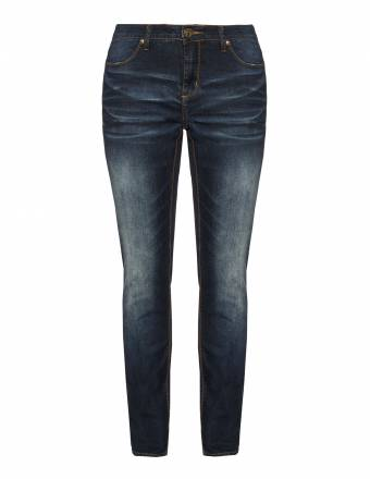 Straight Cut Jeans mit Wash-Out-Effekt