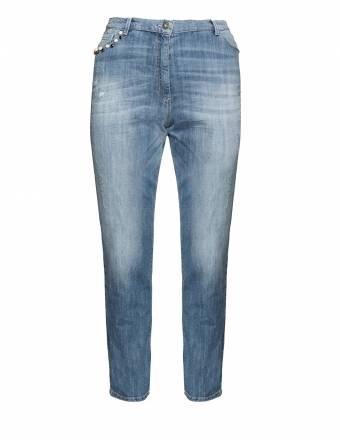 Slim Fit Jeans mit Taschenzierde