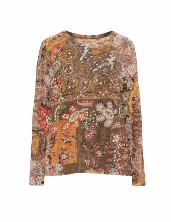 Sweatshirt aus Seide-Woll-Mix