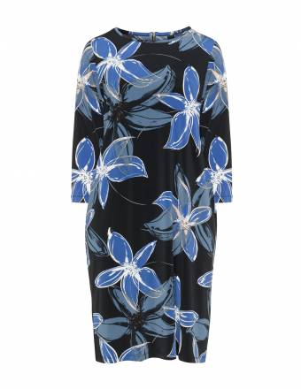 Shirtkleid mit floralem Allover-Print