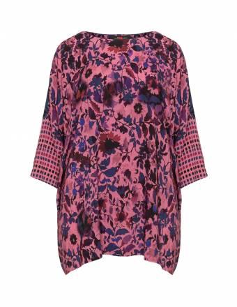 Oversize-Longshirt mit Floralmuster