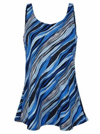 Badeanzug Maritim blau gemustert