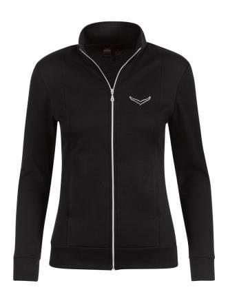 Damen Jacke mit Swarovski® Kristallen Trigema schwarz