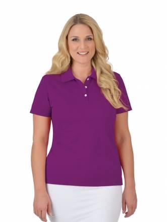 Damen Poloshirt aus Baumwolle Trigema brombeer
