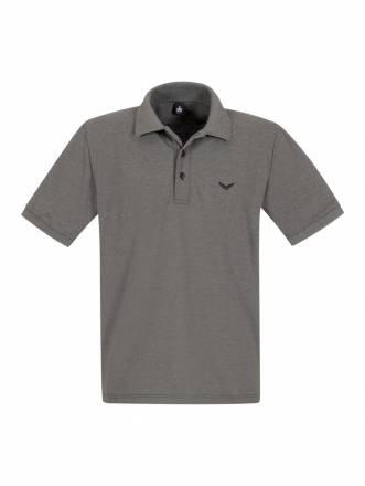Damen Poloshirt in Piqué-Qualität Trigema taupe-melange