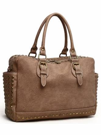 Handtasche Amelia aus stark strukturiertem, griffigen Material 34cm x 24cm x 12cm Collezione Alessandro beige