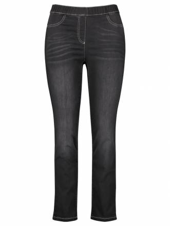 Jeggings Stretch-Jeans Lucy Samoon Black Denim