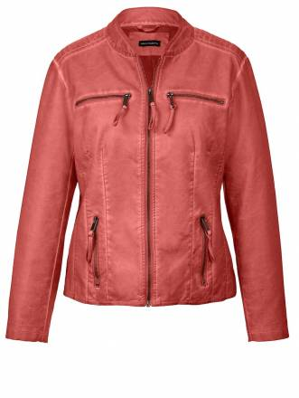 Lederimitat-Jacke Sara Lindholm orange