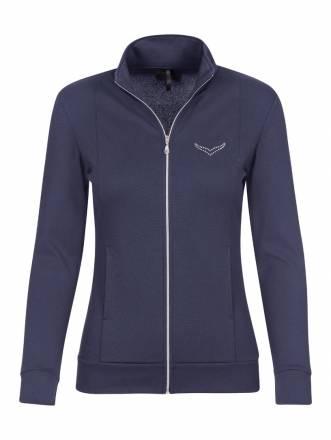Damen Jacke mit Swarovski® Kristallen Trigema deep-purple