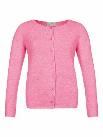 Süße Strick-Jacke mit Knöpfen Via Appia hellgrau melange/ ecru