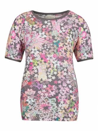 Zarte Bluse mit floralem Muster Via Appia schiefer multicolor