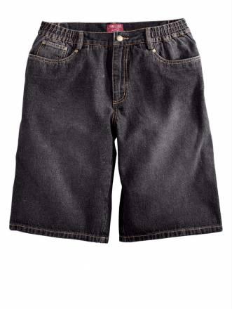 Jeans-Bermuda Men Plus black stone