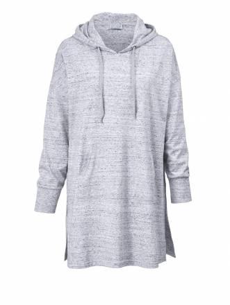 Longshirt in Oversize-Form Angel of Style grau-melange