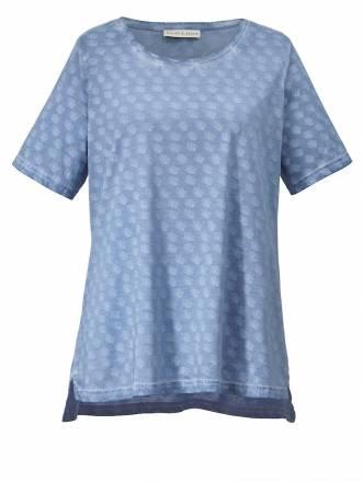Shirt oil wash Janet & Joyce blau oil wash