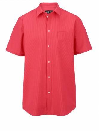 Hemd in Seersucker-Qualität Men Plus koralle