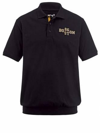 Spezial-Bauchschnitt Poloshirt Men Plus schwarz