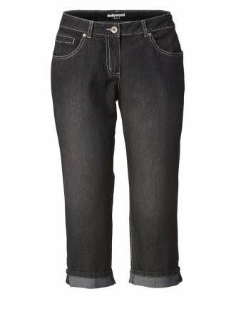 Straight Cut Jeans Amy Dollywood Schwarz