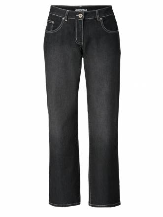 Straight Cut Jeans Paula Dollywood Schwarz