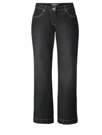Flare Cut Jeans Nora Dollywood Schwarz