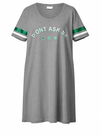 Jersey-Kleid mit Stickerei Angel of Style Grau