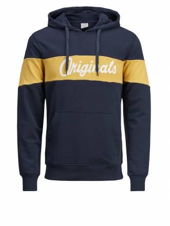 Sweatshirt mit Kapuze Jack & Jones marine-gelb
