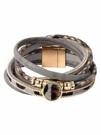 Armband mit Tierprint Grau