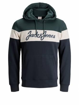 Sweatshirt mit Kapuze Jack & Jones petrol-weiß-marine