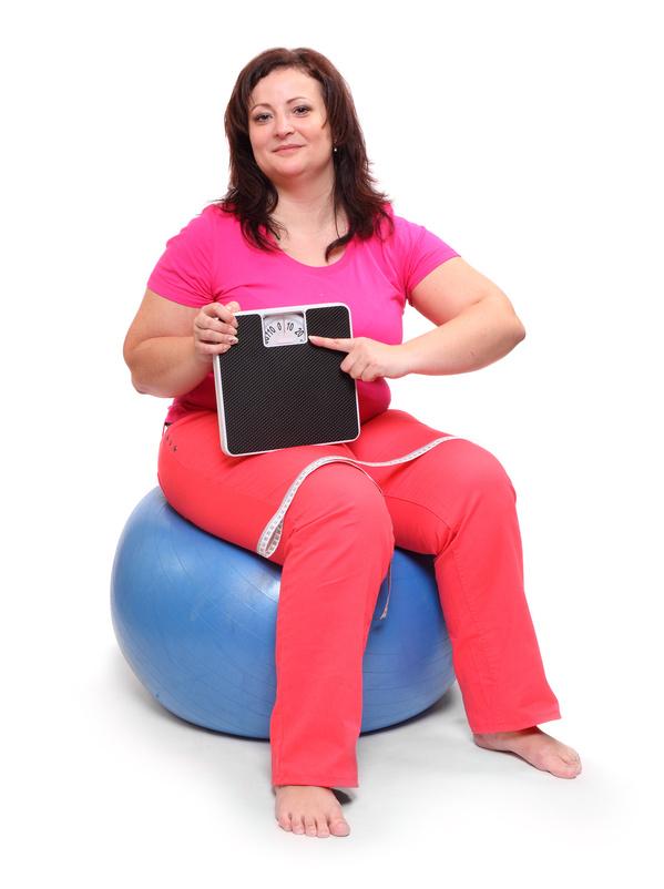 Glücklich mit Übergewicht